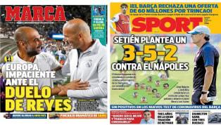 """Cada vez estamos más cerca de la vuelta de la Champions y todos los medios deportivos de España solo hablan de eso. 1. Marca: """"Europa, impaciente ante el..."""