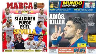 La final de la Supercopa de Europa aparece en todas las portadas de hoy. El Sevilla intentará dar la sorpresa contra un Bayern que aspira no solo a ganar el...