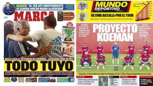 La salida de Bale con destino al Tottenham centra la actualidad del Real Madrid en las portadas de hoy. El galés vuelve a la que fue su casa pero lo hace...