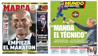 Vuelve LaLiga y lo hace con una jornada trepidante con los cuatro grandes favoritos disputando partidos hoy sábado. En el Barça Koeman ha intentado poner fin...