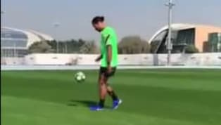 OK, everybody calm down. Virgil van Dijk is back on the training pitch... with A FOOTBALL. The big defender hasn't been seen since he took a few Jordan...