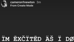 If anyone can translate Cam Newton's font, please let us know. For now, though, we'll just judge this as general excitement. The new Patriots QB took to...