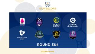 Prosegue il torneo Stay2Score con i round 3 e 4, il torneo su FIFA 20 che vede coinvolte ben otto leghe europee. Si inizia alle ore 19 e per la eSerie A TIM...