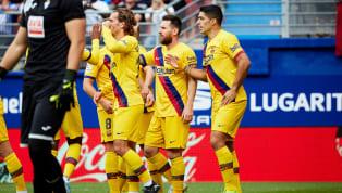 FC Barcelona meraih kemenangan telak 3-0 atas Eibar di Ipurua pada pekan sembilan La Liga, Sabtu (19/10) malam WIB. Striker Blaugrana, Antoine Griezmann,...
