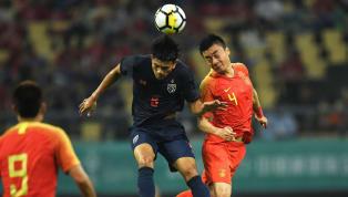  ฟุตบอลกระชับมิตร ไชนา คัพ 2019 ทีมชาติจีน 0-1ทีมชาติไทย สนามกว่างซี สปอร์ต เซ็นเตอร์ , นครหนางหนิง, สาธารณรัฐประชาชนจีน ผู้รักษาประตู : ศิวรักษ์...