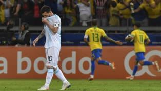 โคปา อเมริกา 2019 รอบรองชนะเลิศ วันพุธที่ 3 กรกฎาคม 2019 บราซิล 2-0 อาร์เจนตินา มิเนเรา, มินาส เกราอิส ประเทศบราซิล...