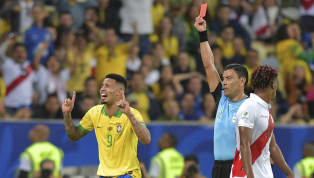 Brazil striker Gabriel Jesus had a pitch-side meltdown after being shown a red cardin the second-half of his nation's Copa America final victory over Peru....