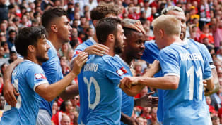 ield Manchester City set the tone for the coming Premier League campaign after beating last season's closest rivals Liverpoolon penalties after a 1-1 drawat...