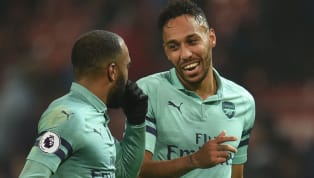 """Arsenalforward, Pierre-Emerick Aubameyang has declared his undying love for strike-partner, Alexandre Lacazette, hailing the """"great feeling"""" they have..."""