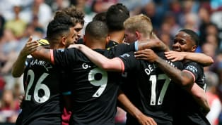 Top Manchester City kicked off their title defence in style with a 5-0 win on the road to West Ham United, moving level on points with Liverpool at the top...