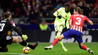 oint A late Ousmane Dembele strike was enough to salvage a point for Barcelona as they drew 1-1 with Atletico Madrid at the Wanda Metropolitano. The game began...