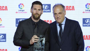 ​La Liga president Javier Tebas is known to be a self-confessed Madridista, but despite that admission, he believes ​Barcelona superstar Lionel Messi is the...