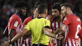 Tiền đạo Diego Costa có thể phải ngồi ngoài 12 trận tới vì tấm thẻ đỏ trong trận Atletico Madrid để thua Barcelona 0-2. Diego Costa could face 12 GAME ban...