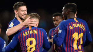 itle Barcelona maintained their nine-point lead at the top of La Liga, as goals from defenders Jordi Alba and Clement Lenglet earned a 2-1 victory over Real...