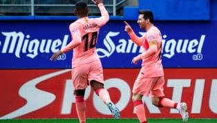 Barcelona merampungkan La Liga 2018/19 dengan hasil imbang 2-2 melawan Eibar di Municipal de Ipurua, Minggu (19/5) malam WIB. Lionel Messi menambah jumlah...
