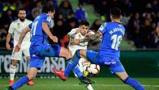 Elconjunto merengueno ha podido pasar del empate sin goles en su visita al Coliseum Alfonso Pérez ante uno de los rivales directos para sellar la...