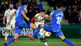 Jornada 34 La Liga Getafe 0-0 Real Madrid Coliseum Alfonso Perez Getafe dan Real Madrid harus puas berbagi satu poin dari hasil imbang tanpa gol di Coliseum...