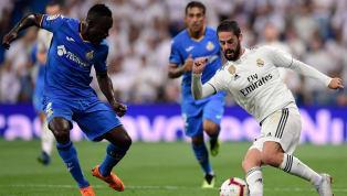 Jornada 34 La Liga Getafe vs Real Madrid Coliseum Alfonso Perez Jumat, 26 April 2019 pukul 02.30 WIB beIN Sports 2 Derby Madrid akan dihelat di pekan 34 La...