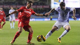  🚨XI del #SevillaFC 🆚 @RealSociedad 🚨 Juan Soriano - Sergi Gómez, Carriço. Mercado - Navas, Sarabia, Banega, Roque Mesa, Promes - Ben Yedder, Munir....