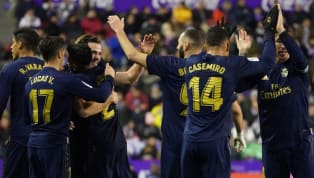 Top Real Madrid took advantage of Barcelona's loss to Valencia on Saturday by beating Real Valladolid on Sunday evening, Nacho Fernandez scoring the only game...