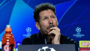 Simeone compareció ante los medios en la rueda de prensa previa al encuentro de octavos de final de Champions League entre el Atlético de Madridy el...
