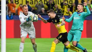 Barcelona bermain imbang tanpa gol melawan Borussia Dortmund di laga pertama grup F Champions League di Signal Iduna Park, Rabu (18/9) dini hari WIB. Kiper...