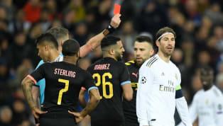 Expulsé face à Manchester City, mercredi, en huitièmes de finale de la Ligue des Champions, Sergio Ramos a vu rouge pour la quatrième fois dans la...