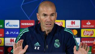 Zinedine Zidane comparece en la rueda de prensa previa al partido de Liga entre el Mallorca y elReal Madridque se jugará mañana sábado en el estadio de...