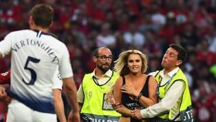 Cô nàng đột nhập và làm náo loạn sân Wanda Metropolitano trong hiệp một trận chung kết Champions League giữa Tottenham Hotspur và Liverpool có tên là Kinsey...