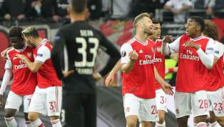 การแข่งขันฟุตบอล ยูฟ่า ยูโรปาลีก 2019/20 รอบแบ่งกลุ่ม คืนวันพฤหัสบดีที่ 19 กันยายน 2019 ผลการแข่งขัน ไอน์ทรัค แฟรงค์เฟิร์ต 0-3 อาร์เซนอล...