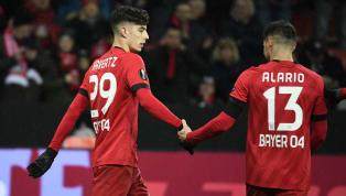 Bayer 04 Leverkusenhat im Hinspiel der Europa-League-Zwischenrunde einen überzeugenden Heimsieg gegen den FC Porto eingefahren. Lucas Alario und Kai...