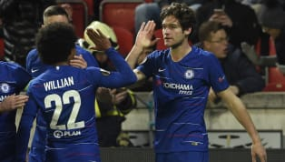 Goal Chelsea took a big step towards a Europa League semi-final place as a late Marcos Alonso header was enough to give a below par Blues side the win in their...