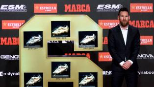 Lionel Messiha recibido hoy su última Bota de Oro. El trofeo que entrega el diario Marca y la ESM (European Sports Media)al máximo goleador de las ligas...