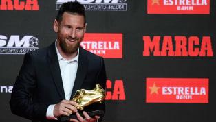 Troféu é o que não falta para Lionel Messi. Nesta quarta-feira, ele recebeu sua sexta Chuteira de Ouro por ter sido o artilheiro da Europa na última...