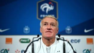 Suivez la conférence de presse de Didier Deschamps qui annonce la liste des joueurs français sélectionnés pour les matchs face à la Moldavie et à l'Islande.