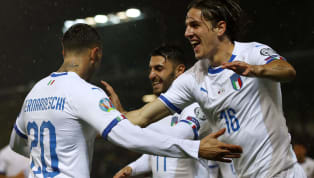 cord Italy beatLiechtenstein 5-0 on Tuesday night, as a much-changed Azzuri side made it eight qualifying wins from eight atVaduz's Rheinpark Stadion. There...