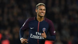"""Paris Saint-Germain forward Neymar has been charged by UEFA for """"insulting and/or molesting acts"""" aimed at the referee in the aftermath of his side's..."""
