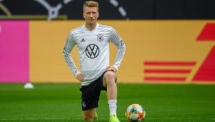 Am Freitagmittag stellten sich Serge Gnabry, Marco Reus und Kai Havertz in einer Pressekonferenz des DFB vor dem EM-Qualifikationsspiel gegen Estland...