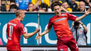 """Das Schneckenrennen der zweiten Bundesliga um die Aufstiegsplätze gipfelte am 34. Spieltag in einem Spektakel a la """"Wer will es weniger?"""" - mit dem besseren..."""
