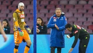 Brutto infortunio per David Ospina, portiere delNapoli,ieri nella gara contro l'Udinese, 28° giornata di Serie A vinta dagli azzurri 4-2. In uno scontro...