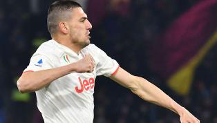 İtalya Serie A'nın 19. haftasında oynanan Roma-Juventus karşılaşmasına ilk 11'de başlayan milli futbolcu Merih Demiral karşılaşmanın 3. dakikasında Torino...