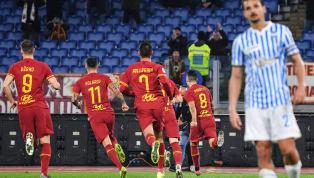 La Romasupera 3-1 la Spal in rimonta, nonostante un primo tempo chiuso in svantaggio. Pellegrini, Perotti dal dischetto e Mkhitaryan rispondono al rigore di...