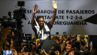 Emmanuel Adebayor was greeted by a swathe of adoring fans in Paraguay as he landed in South America ahead of joiningAsuncion-basedOlimpia on a free...