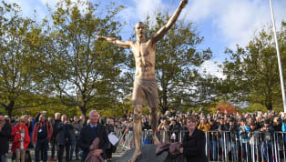 ​Zlatan Ibrahimovic's statue outside the Swedbank Stadion continues to bear the brunt of him investing in rivals Hammarby as Malmo fans tried to saw off the...