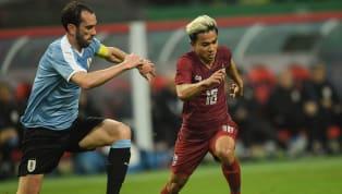 ฟุตบอล ไชนา คัพ 2019 นัดชิงชนะเลิศ ทีมชาติไทย 0-4 ทีมชาติอุรุกวัย กว่างซี สปอร์ต เซ็นเตอร์ นครหนานหนิง สาธารณรัฐประชาชนจีน ผู้รักษาประตู : ศิวรักษ์...