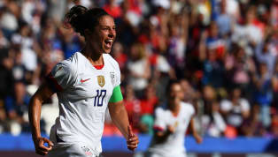 Carli Lloyd became the first player to score in six consecutive Women's World Cup games as she netted a brace in USA's 3-0 win over Chile on Sunday evening -...