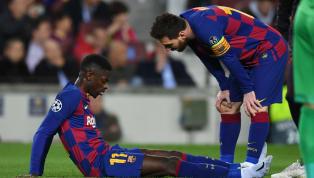 Ngôi sao Barca Ousmane Dembele vừa dính chấn thương trong trận đấu với Borussia Dortmund, chấn thương thứ sáu chỉ trong một năm dương lịch. Khi Dembele ngồi...