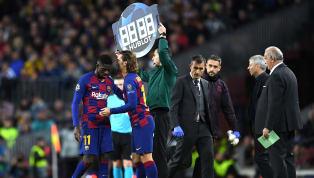 De retour à l'entraînement avec le FC Barceloneaprès une déchirure à la cuisse droite, Ousmane Dembélé a eu le droit à une visite à la sallede son...