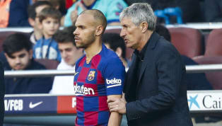 sion ​Quique Setien praised the 'outstanding' Martin Braithwaite after the Catalan giant's new signing made his Barcelona debut in the 5-0 thrashing of Eibar....