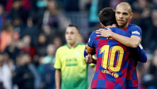 ​Barcelona striker Martin Braithwaite says he isn't going to wash his clothes after getting a hug from club captain Lionel Messi on his debut. The Denmark...